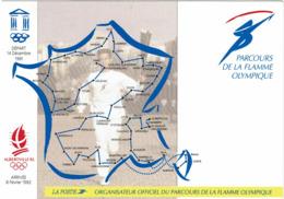 LCTN58/2 - FRANCE CP DE SERVICE PARCOURS FLAMME OLYMPIQUE CIRCULEE NIORT / MELLE - Autres