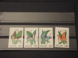 PALAU - 1992 FARFALLE 4 VALORI - NUOVI(++) - Palau
