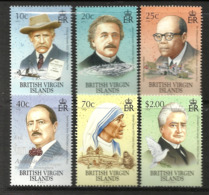 BRITISH VIRGIN ISLANDS  2001  NOBEL WINNERS  SET MNH - Britse Maagdeneilanden