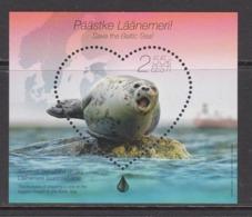 2015 Estonia Seal Mammal Souvenir Sheet   MNH  @ BELOW FACE VALUE - Autres