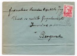 1956 YUGOSLAVIA, SLOVENIA, CIRKULANE TO BELGRADE - 1945-1992 Socialist Federal Republic Of Yugoslavia