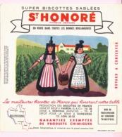 Buvard Biscottes SAINT HONORE REGION BOURGOGNE  19 - Biscottes
