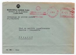 1962 YUGOSLAVIA, SLOVENIA, LJUBLJANA TO BELGRADE, NATIONAL BANKS BRANCH FOR SLOVENIA - 1945-1992 République Fédérative Populaire De Yougoslavie