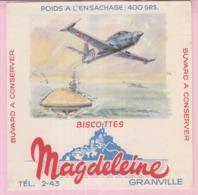 Buvard Biscottes MAGDELEINE AVION  19 - Biscottes