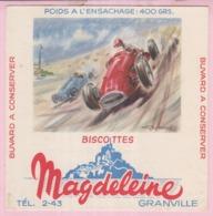 Buvard Biscottes MAGDELEINE VOITURE  19 - Biscottes
