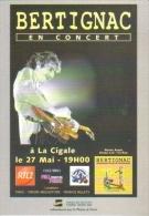 """Carte Postale édition """"Dix Et Demi Quinze"""" - Bertignac En Concert à La Cigale - Entertainers"""