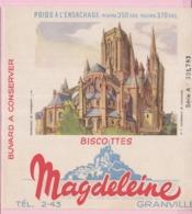 Buvard Biscottes MAGDELEINE CATHEDRALE DE COUTANCE  19 - Biscottes