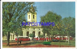 123614 PARAGUAY VILLARRICA VISTA DE LA CATEDRAL & BUS COLECTIVO POSTAL POSTCARD - Paraguay