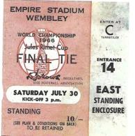 Ticket D'entrée.Coupe Du Monde Foot 1966. Finale à Wembley Le 30 Juillet. - Tickets D'entrée