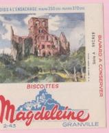 Buvard Biscottes MAGDELEINE ABBAYEDE HAMBYE 19 - Biscottes