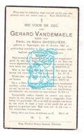 DP Gerard Vandemaele / Gesquière 29j. ° Poperinge 1907 † Ieper 1936 - Andachtsbilder