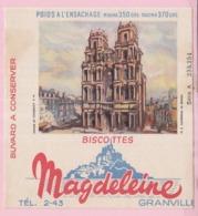 Buvard Biscottes MAGDELEINE CATHEDRALE DE RENNES 19 - Biscottes