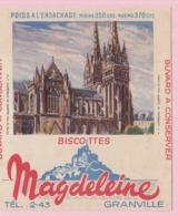 Buvard Biscottes MAGDELEINE CATHEDRALE DE QUIMPER 19 - Biscottes