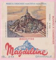Buvard Biscottes MAGDELEINE MONT SAINT MICHEL 19 - Biscottes