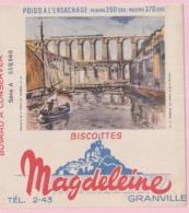 Buvard Biscottes MAGDELEINE MORLAIX VIADUC 19 - Biscottes
