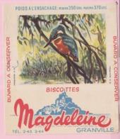 Buvard Biscottes MAGDELEINE MARTIN PECHEUR 19 - Biscottes