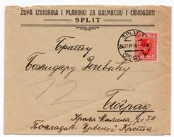 1926 YUGOSLAVIA,CROATIA, SPLIT TO BELGRADE, SCOUTS, COVER FOR DALMATIA AND MONTENEGRO - 1919-1929 Royaume Des Serbes, Croates & Slovènes