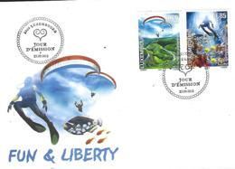 Luxembourg  -  FDC   25,9,2012   Fun An Liberty - FDC