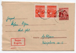 1949 YUGOSLAVIA, SLOVENIA, SKOFJA LOKA TO  LJUBLJANA, EXPRESS, STATIONERY COVER, USED - Entiers Postaux