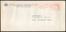ITALIA ROMA 1984 - METER / EMA - CONI COMITATO OLIMPICO NAZIONALE ITALIANO - BUSTA VIAGGIATA - Sommer 1984: Los Angeles