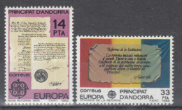 C 002 ) SPANISH ANDORRA Community Issues Europe CEPT 1982 **/MNH Historical Events - 1982