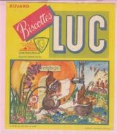 Buvard Biscottes LUC  LA FONTAINE LE RAT QUI S'EST RETIRE DU MONDE 19 - Biscottes