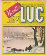 Buvard Biscottes LUC PAYSAGE D'HIVER  19 - Biscottes