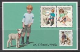 2013 New Zealand Children's Health Sheet MNH @  80% Of FACE VALUE - Neufs