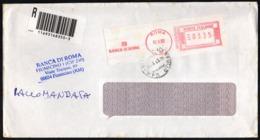 ITALIA ROMA 2003 - METER / EMA - RACCOMANDATA - BANCA DI ROMA - SEDE DI FIUMICINO - Fabbriche E Imprese