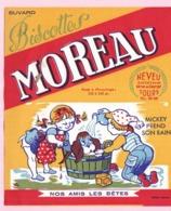 Buvard Biscottes MOREAU NOS AMIS LES BETES MICKEY PREND SON BAIN  19 - Biscottes