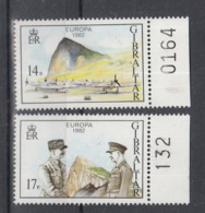C 002 ) Gibraltar Community Issues Europe CEPT 1982 **/MNH Historical Events - 1982