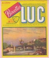 Buvard Biscottes LUC VUE DE PARIS  19 - Biscottes