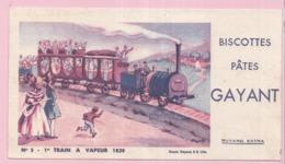 Buvard Biscottes GAYANT TRAIN A VAPEUR  19 - Biscottes