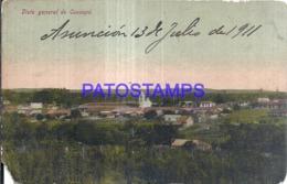 123625 PARAGUAY CAACUPE VISTA GENERAL CUT DAMAGED POSTAL POSTCARD - Paraguay
