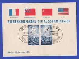 Sonderkarte Viererkonferenz Der Aussenminister 25.Januar 54, So.-O 18.2.54 - [6] République Démocratique