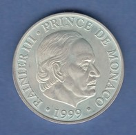 Monaco Silbermünze 50 Jahre Thronbesteigung Rainier III. 1999  100 Fr.  - Sonstige