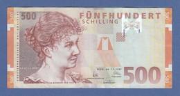 Banknote Österreich 500 Schilling Rosa Mayreder  Ausgabe Vom 1.1.1997  - Austria
