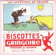 Buvard Biscottes GRINGOIRE ECHEC AU CHASSEUR  19 - Biscottes