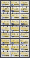 Brasilien Klüssendorf-ATM 1993 Postemblem. Serie 9 VS-Sätze 1993-1994 Kpl. **  - Automatenmarken (Frama)