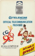 MALASIA. SPORTS. Kula Lumpur '98, Official Telecommunication Provider. 50RM. MLS-C-C.2. (032) - Sport