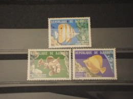 DJIBOUTI - 1978 PESCI 3 VALORI - NUOVI(++) - Gibuti (1977-...)