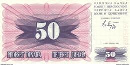 BOSNIA AND HERZEGOVINA 50 DINARA 01.07.1992 P-12a UNC  [BA115a] - Bosnia And Herzegovina