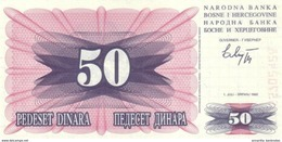 BOSNIA AND HERZEGOVINA 50 DINARA 01.07.1992 P-12a UNC  [BA115a] - Bosnia Erzegovina