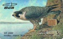 TC Puce CANADA NEUVE NSB 950 EX -  SIT 2000 - OISEAU Rapace - FAUCON & TIMBRE - EAGLE BIRD & STAMP MINT Phonecard - 4495 - Canada