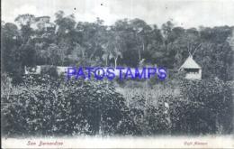 123642 PARAGUAY SAN BERNARDINO CAFE ALEMAN CIRCULATED TO ARGENTINA POSTAL POSTCARD - Paraguay