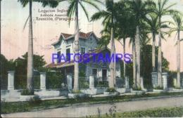 123643 PARAGUAY ASUNCION LEGACION INGLESA AVENIDA ASUNCION CIRCULATED TO URUGUAY POSTAL POSTCARD - Paraguay