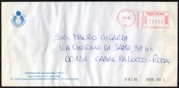 VOLLEYBALL - ITALIA ROMA 1993 - METER / EMA  CONI - BUSTA VIAGGIATA FEDERAZIONE ITALIANA PALLAVOLO - Pallavolo