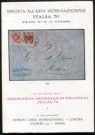 1976 Italphil / Robson Lowe, Italia 76 Philatelic Exposition Auction Catalogue Classic Italy, Italian States+ - Cataloghi Di Case D'aste