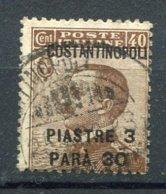 1922- ITALIA  LEVANTE COSTANTINOPOLI - Piastres 3 &30 Paras ( 3 ,3/4 Piastres) Used.  Voir Varieté - 11. Oficina De Extranjeros