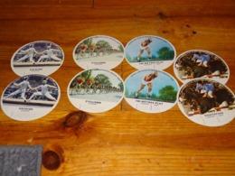 Lot 8 Images Rondes Vintages De Vache Qui Rit Série SPORTS OLYMPIQUES MEXICO 1968 - Cheese
